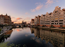 Amazing architecture of Gdansk cityscape in Poland Stock Photos