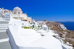 Architecture of Oia village on Santorini island. Amazing architecture of Oia village on Santorini island, Greece Stock Images