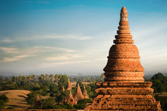 Amazing architecture of old Buddhist Temples at Bagan Kingdom, Myanmar (Burma). Travel landscapes and destinations. Amazing architecture of old Buddhist Temples Royalty Free Stock Images