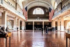 Ellis Island. Amazing architecture that went into constructing the main building on Ellis Island Royalty Free Stock Photo