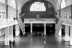 Ellis Island. Amazing architecture that went into constructing the main building on Ellis Island Royalty Free Stock Photography