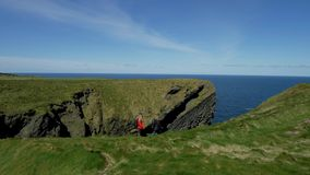 Amazing Atlantic coast of Ireland with its steep cliffs. Travel photography stock video