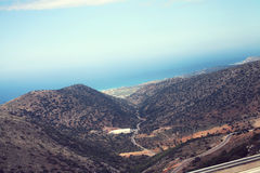 Amazing atmospheric landscape of mountains Royalty Free Stock Image