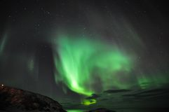 Amazing aurora and the fjord Royalty Free Stock Photography