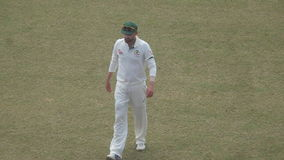 Amazing Australian Cricketer Photo. This photo capture from Bangladesh Mirpur cricket stadium 27 August 2017. This match Bangladesh vs Australia test series royalty free stock image
