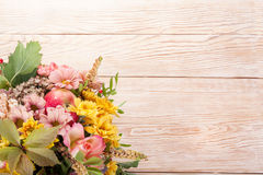 Amazing autumn bouquet with berries Stock Images