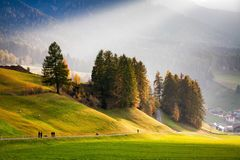 Amazing Autumn Landscape In The Mountains. Stock Image