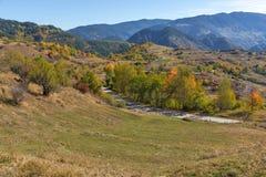 Amazing Autumn landscape near town of Dospat, Rhodope Mountains Stock Photos