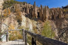 Autumn Landscape of Rock Formation Devil`s town in Radan Mountain, Serbia. Amazing autumn landscape of Rock Formation Devil`s town in Radan Mountain, Serbia royalty free stock photos
