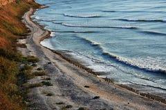 Amazing autumn nature landscape at Tuzla beach, Romania. Amazing autumn nature landscape on the Black sea coast at Tuzla beach, Romania royalty free stock photography
