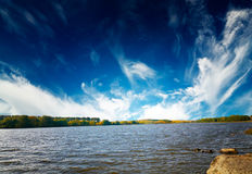 Amazing autumnal pond. Royalty Free Stock Photo