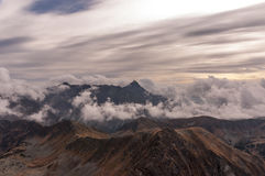 Amazing autumnal view of mountains. Tatry Royalty Free Stock Photography