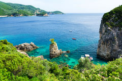 Amazing azure bay in Paleokastritsa in Corfu island, Greece Royalty Free Stock Photo