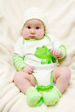 Amazing babe with chubby cheeks royalty free stock photos