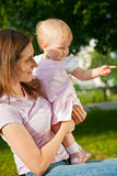 Amazing baby and mother Stock Photo