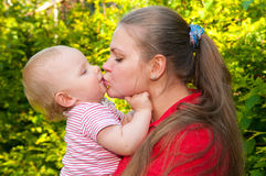 Amazing baby and mother Royalty Free Stock Photos