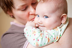 Amazing baby and mother Royalty Free Stock Photography