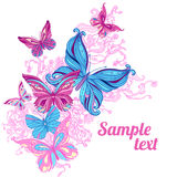 Amazing background with butterflies Royalty Free Stock Photography
