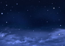 Amazing background of the night sky Stock Photography