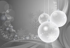 Amazing Baubles Background for Christmas stock illustration