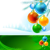 Amazing Baubles Background for Christmas Stock Images