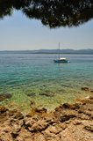 Amazing beach in Bol on island Brac. Croatia Stock Images