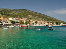Amazing beach in Bol on island Brac, Croatia Royalty Free Stock Photography