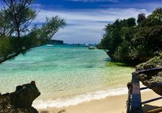 Beach Okinawa. Amazing beach clean water Okinawa Royalty Free Stock Image