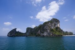Amazing beach and cliff at had Yao, Trang, Thailand Royalty Free Stock Images