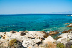Amazing beach Greece Sarti Stock Images
