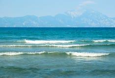 Amazing beach Greece Sarti Royalty Free Stock Photo