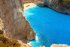 Amazing beach Navagio in Zakynthos, Greece Stock Image