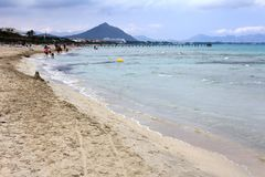 Beach on Mallorca island, Playa de Muro