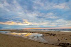 Amazing Beach Sunrise, Baltic Sea Royalty Free Stock Photography