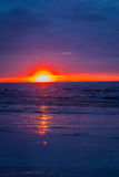 Amazing Beach Sunset with Beautiful Sky, Hawaii Royalty Free Stock Photos