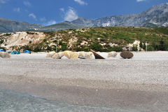 Amazing beaches of Dhermi, Albania Stock Photos