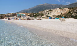 Amazing beaches of Dhermi, Albania Royalty Free Stock Image