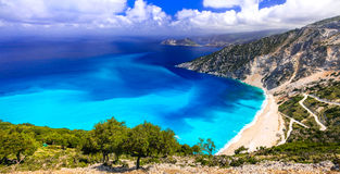Amazing beaches of Greece series - Myrtos in Kefalonia Stock Images