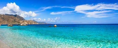 Amazing beaches of Greek islands. Apella in Karpathos stock image