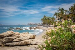 Tropical resort. Puerto Vallarta. Best beach in Mexico. Pacific ocean view. Amazing beaches of the world. Mexico. Puerto Vallarta Royalty Free Stock Photography