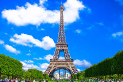 Amazing beautiful Eiffel Tower in Paris stock photo