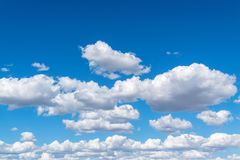 Amazing beautiful fluffy gentle clouds royalty free stock photography