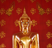 Amazing  beautiful golden Buddha in church, Thailand. Royalty Free Stock Images