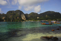 Amazing beautiful landscape view of Koh Phi Phi island in Thailand Krabi province Royalty Free Stock Photography