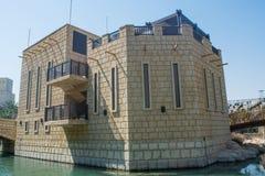 Amazing beautiful luxury resort building shaped like castle Stock Images