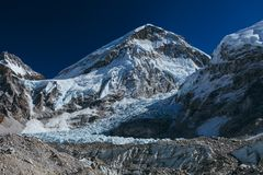 Himalayas. Amazing beautiful mountains on Himalayas - Nepal Stock Photo