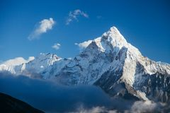 Himalayas. Amazing beautiful mountains on Himalayas - Nepal Royalty Free Stock Photo