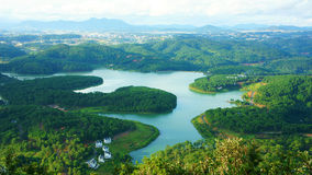 Amazing, beautiful panorama, Dalat travel, Vietnam Stock Images