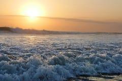 Amazing beautiful sea landscape sunset view of Seminyak Double Six beach in Bali island of Indonesia Royalty Free Stock Photos