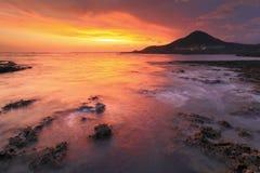 Amazing beautiful sunset reflection on the sea Royalty Free Stock Photo